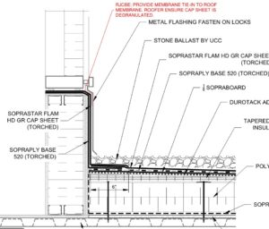 Figure 2: Roof curb detail at curtain wall transition where co-ordination between trades was not evident. Images courtesy RJC Engineers