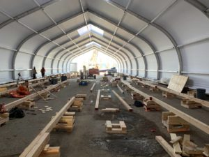 Figure 3: Day 4 of construction at the Peter Loughleed Centre in Calgary, Alta.