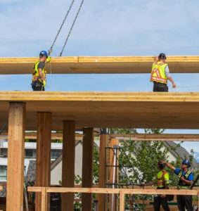 The British Columbia government is investing in 12 mass timber demonstration and research projects to help accelerate the adoption of mass timber building systems. Photo courtesy flickr.com/Province of British Columbia