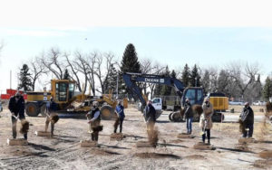 Construction has begun on the Agri-Food Hub and Trade Centre in Lethbridge, Alta.