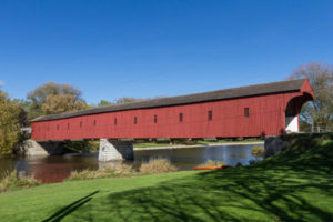 The federal and Ontario governments, along with Waterloo Region, have announced $6.25 million in joint funding to rehabilitate the heritage-designed West Montrose Covered Bridge. Photo courtesy Waterloo Region