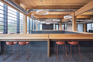 The logistics warehouse at the Canadian Nuclear Laboratories in Chalk River won the Innovation Award from the Ontario Wood Design Awards program. Photo courtesy HDR Architects