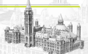 Canada Green Building Council (CaGBC) shows a sustainable lens on Canada's House, Centre Block, in Ottawa, Ont. Image courtesy PSPC