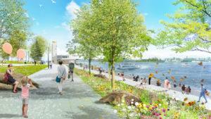 Unveiling Montréal's largest insular park, parc Jean-Drapeau's, 2020 to 2030 'Conservation, Design, and Development Management Plan.' Rendering courtesy NIPPAYSAGE