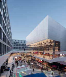 CLOU Architects design for Starry Street Wuhou is divided into three levels, interwoven from bottom to top, including retail, social, and living space.
